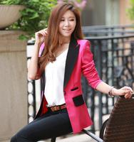 Roupas femininas OL workday blazer feminino blazer colors blue gray black rose red blazer M/L/XL free shipping