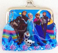 New 2014 baby girls Frozen Coin Purses kids wallet chilldren's wallet princess Elsa Anna money bag party supplies Free shipping