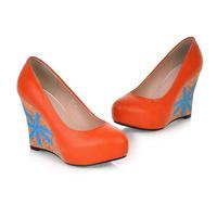 Pure manual 2014 classic han edition sentiment, shallow single shoe heels