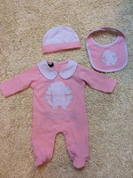 Retail 2014 New Brand Girl's casual cotton romper sets/Children's foot climbing clothes with bibs and hats clothing+free shipp