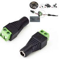 10pcs/lot Female DC adapter, power DC female plug jack, female DC transposon, DC jack connector for led strip use, free shipping