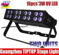 2pcs/lot Free Shipping Led Bar UV Blacklight 16pcs*3W LED Stage Light DMX 512&Sound Led Stage Light 4DMX American DJ Stage Light