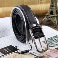 2014 new Hot Leisure brand double-sided leather belt men women belts Blt0021 free shipping