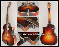 17inch handmade sharp cutaway jazz guitar
