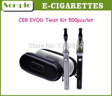 Electronic Cigarette Starter Kit  EVOD Twist Battery Ce8 Atomizer 5ml EVOD Twist Battery For E-Cigarette EVOD CE8 Kits Free DHL