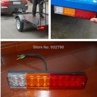 Pair 24V 20LEDs Trailer Boat ATV Yacht LED Tail Reversing Turn Brake Light Rear Lamp Car-Trailers Taillight Tail-lamp Waterproof