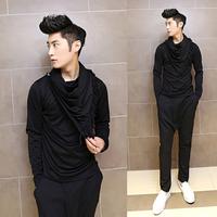 Free shipping! Slim Night tassels men's fashion show personality long-sleeved T shirt