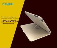 New 2014 Original Feelymos SPACE Multi-function Anti-Knock Ultra-thin Anlumina Metal Capa Case for ipad air Smart Cover