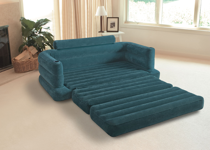 inflatable sofa bed couch intex furniture air lounge pull out queen