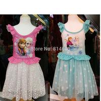 NEWEST Frozen Dress Children Girls Christmas Party Dress Princess Elsa & Anna