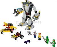 NEW Teenage Mutant Ninja Turtles Bela 10209 Baxter Robot Rampage Building Blocks sets Sewer hero compatible all brand  T62