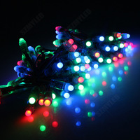 RGB Led Christmas String Lights 7m 50leds+ 24key Remote Pixel Controller + DC12V 3A Power Adapter 1set Free Shipping