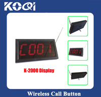 Table Call Number Display Monitor K-2000 show different service type via letter(c=call;b=bill;d=drink)