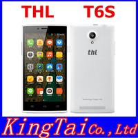 Original THL T6S 1G RAM 8G ROM mobile phone MTK6582M Quad Core 1.3Ghz Dual sim card 8MP 3G Russian menu black white color