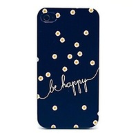 Free Shipping Daisies Be Happy Pattern Hard Case for iPhone 5/5S 5C 4/4S