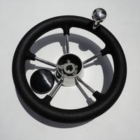 Brand New Yacht Boat Stainless Steel Wheel With PVC Foam Knob 5 Spoke Size 11''