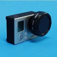 Filter adapter + 37mm Neutral Density ND4 Filter + Lens Cap For GOPRO HERO 3 3+