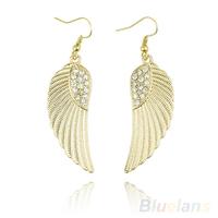 Hot Fashion Rhinestone Angel Wings dangle earring Silver Gold  earrings for women 042U