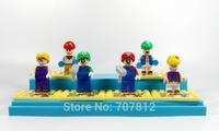 2014 Cute Mini Mario Bro Action Figures 6PCS/Set  PVC Super Mario  Building Block Collections Best Gift  Free Shipping