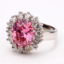 2014 New Fashion Brand Noble Diana Princess Love Rings Big CZ Diamond Women s Wedding Finger
