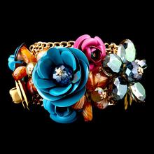 Vintage Crystal Chain  Rhinestones Magnet Tension Mount Bracelet Handmade jewelry National Free Shipping Newest Original Design(China (Mainland))