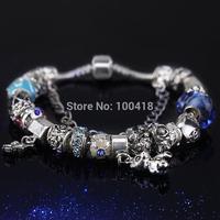 2015 high quality european style murano glass beads / European style glass beads braceletsa / lampwork glass beads bracelets