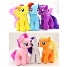 6 PCS 19cm/7.48 inch Kids Little Pony Plush Doll Unicorn Horse Toy for Children Birthday Girls Christmas gifts SP042-6PCS(China (Mainland))