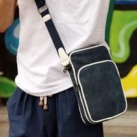 Diagonal canvas shoulder bag men Messenger bag Korean version men's casual school bags small bag