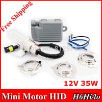 Free Shipping!  DC 35W mini Motor/Motorcycle Bike Hid Lights Kit H6 Hi/Low Xenon Headlamp 2600lm 6000K/8000K