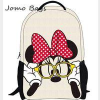 Top selling 2014 New children's3-9 grades backpacks school  backpack of lovely mini mouse cartoon travel hiking backpack z2636