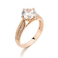 Italina Brand AAA Zirconia Wedding Rings For Women Fashion Jewelry