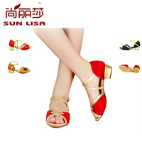 SUN LISA  Latin Tango Ballroom Salsa Heeled Dance Shoes 3.5cm Heels Satin ,For Women and Girl Free Shipping