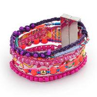 Aliexpress hot 2014 New Fashion beach brazilian women Bracelet Leather 100% hand-made charm Bracelets pulseiras femininas W5B07