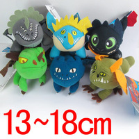 6pcs/set Dragons Plush Toy 13cm-18cm How to Train Your Dragon 2 Plush Animals Doll Toy Bonecas Brinquedos Kids Baby Soft Toys