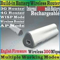 Eng-Firmware TENDA 4G302 Wireless 300Mbps 3G 4G Portable Router Travel WiFi Internal 10000mAh Power Bank TD/FDD-LTE Modem PROM10