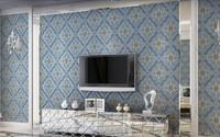Sago wallpaper fashion non-woven wallpaper 3d three-dimensional relief wallpaper tv background wall wallpaper