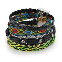 100% hand-made charm Bracelets Aliexpress hot 2014 New Fashion beach brazilian women Bracelet Leather pulseiras femininas W5B09