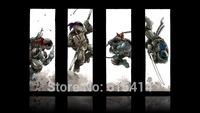 """015 Teenage Mutant Ninja Turtles - TMNT Fight USA Hero 2014 Movie 24""""x14""""  Poster"""