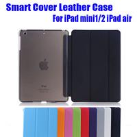Retail Fashion Ultrathin Magnetic Smart Cover Leather Case + PC back case for Apple iPad mini 1/2 Retina ipad air NO: I510