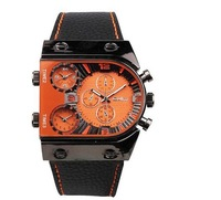 newest hot sell good quality OULM fashion Big dial time zone  men quartz watch sport  watch military watch dz