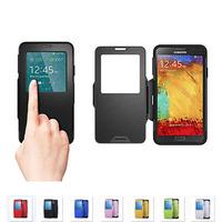 100pcs/lot Fedex Free SGP Spigen Slim Armor View Note 3 S View Case For Samsung Galaxy Note 3 Window Cover Smart Sleep