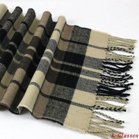 Wholesale 2014 New Scarf Autumn Winter Pashmina Tassels Cashmere Warm Plaid Men Scarves