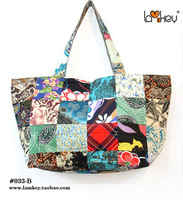 New fashion handmade patchwork bags woman shipping bags cloth bag Free Shipping