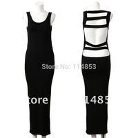 2014 New Fashion Womens Ladies Long Maxi Dresses Evening Sleeveless Vest Sexy Backless M(UK 6 8 10)  L(UK 12 14) ST02A44