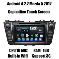 Android Car DVD for Mazda 5 2012 Headunit Autoraido GPS Navi with A9 dual core/CPU 1G MHz/RAM 1GB/3G host Free shipping