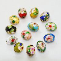 25 PCS Mixed Color Oval Shape Handmade Cloisonne Beads 9*11mm