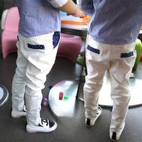 Retail!Autumn new children's curling white suit pants / boy casual trousers /children's christmas clothing /kids fashion clothes