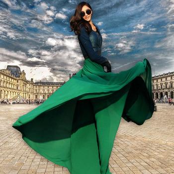 8 м хем длиной до пола , 2014 новый Большой размер длинные женщины макси юбка супер отличное качество с высокой упругой высокой талией бесплатная доставка