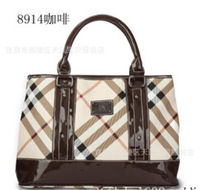 2014 NEW fashion women leather handbags Louis plaid bag plaid shoulder bag Luxury Messenger bag hobo vintage bag free shipping