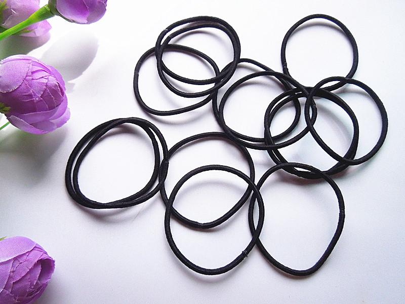 100pcs girl black hair tie rubber band Headwear(China (Mainland))